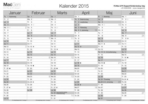 MacGeni gratis kalender 2015 print selv 560x395 Gratis Kalender År 2015   Print selv
